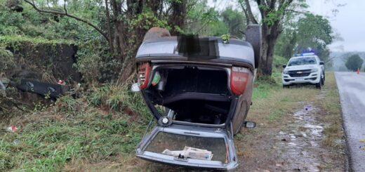 Un herido tras un despiste en Gobernador Roca en medio de una intensa lluvia