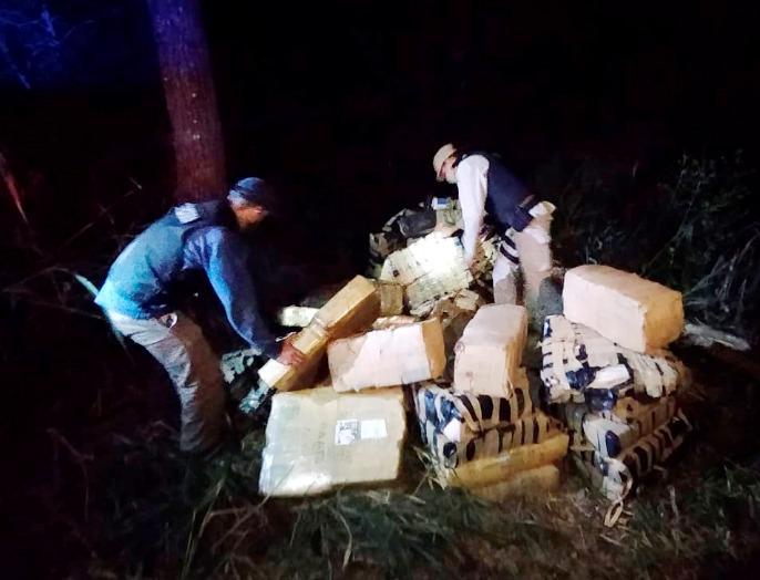 Prefectura decomisó un cargamento de más de 1.400 kilos de marihuana en Misiones