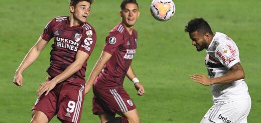 Con dos goles en contra, River empató ante San Pablo en el retorno de la Copa Libertadores tras la pandemia