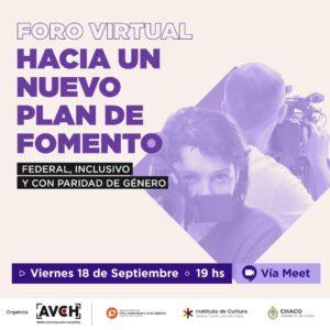 Realizarán un Foro Virtual sobre Plan de Fomento Federal, Inclusivo y con Paridad de Género