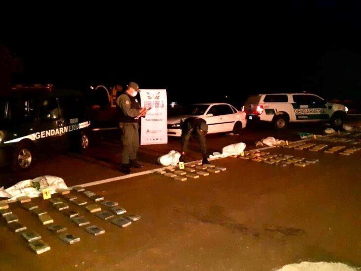 Gendarmería secuestró más de 160 kilogramos de marihuana en San Ignacio