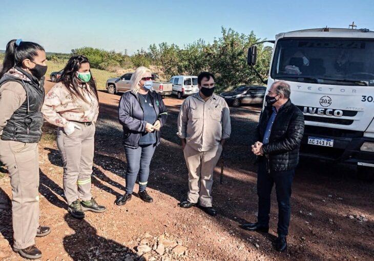 Iniciaron importante operativo de limpieza y puesta en valor de la ruta nacional 12