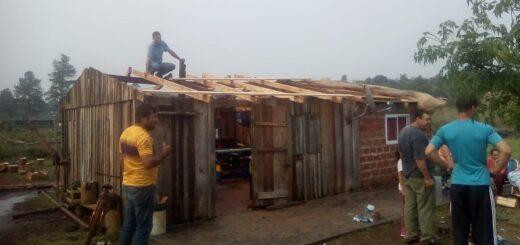 Temporal en Misiones: en Campo Grande solamente se tuvieron que lamentar daños materiales