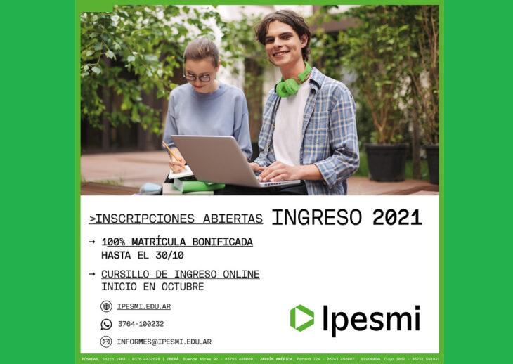 El IPESMI abre sus inscripciones para el ciclo 2021
