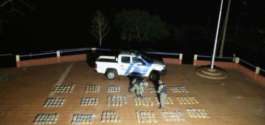 """Prefectura secuestró 392 """"panes"""" de marihuana en Misiones"""