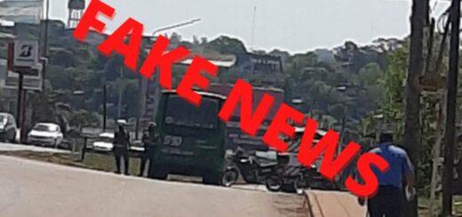 Fake news: es falsa la información sobre un asesinato en un colectivo de Posadas