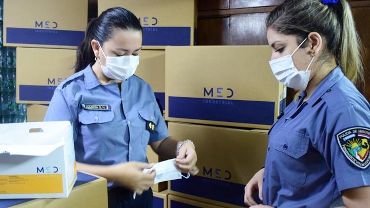 Desde la Policía de Misiones adquirieron más de 30 mil barbijos para bioseguridad de sus efectivos