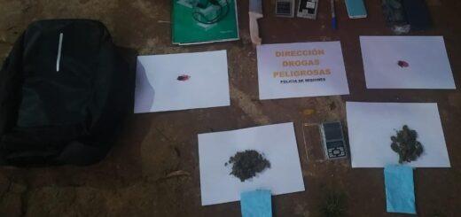 """Detienen a dos """"dealers"""" con marihuana en Posadas y Candelaria"""