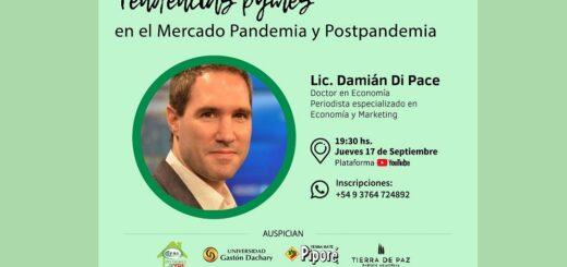 La Asociación Misionera de Marketing organiza e invita para este jueves 17 a una disertación de Damián Di Pace en YouTube Live, con el apoyo de Misiones Online