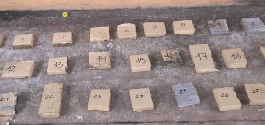La Policía de Misiones secuestró 112 panes de marihuana ocultos en estructuras metálicas