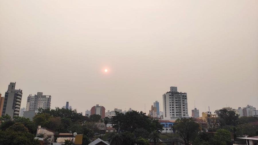 Los incendios en la región cubren con una bruma de humo a gran parte de Misiones
