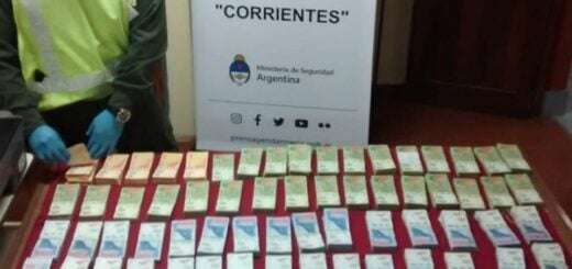Corrientes: Gendarmería incautó 2.800.000 pesos sin respaldo legal para su traslado
