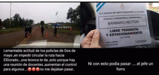 """El Diputado Nacional """"Cacho"""" Bárbaro protagonizó un incidente en Dos de Mayo"""