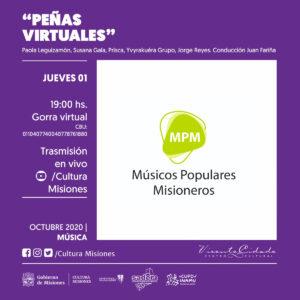 Músicos Populares Misioneros organizan la segunda Peña Virtual