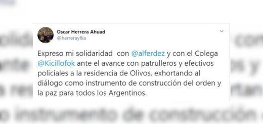 El Gobernador de Misiones se sumó a las expresiones de apoyo y solidaridad con Alberto Fernández y Axel Kicillof ante la manifestación policial en Olivos