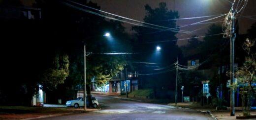 Eldorado: colocaron 78 luminarias LED, desde la calle San Luis hacia la zona Oeste