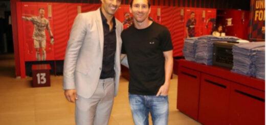 Messi se despidió de Luis Suárez
