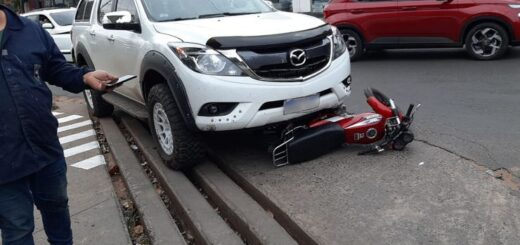 atropelló a motochorros
