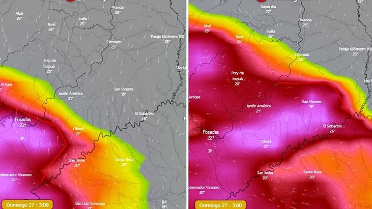 Calor extremo: el sábado en Misiones habrá 43°C de sensación térmica y el domingo llegará acompañado de tormentas