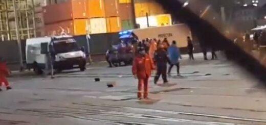 Buenos Aires: una protesta sindical terminó a los tiros, heridos y decenas de detenidos en el Puerto