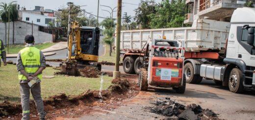 Eliminan las curvas y contracurvas de la rotonda de la avenida Urquiza y Costanera de Posadas para agilizar el tránsito