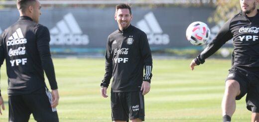 El seleccionado argentino realizó la última práctica y viajó a Bolivia