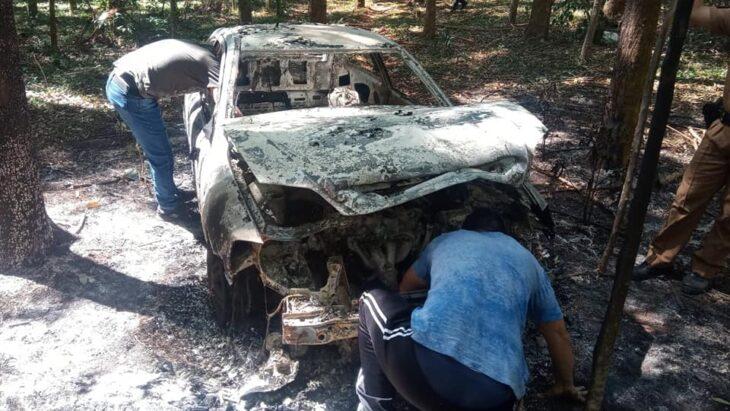 El auto desde el cual sicarios mataron a un policía retirado de Misiones en Brasil fue hallado completamente quemado