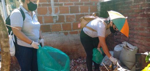 Dengue: se retiraron 30 toneladas de desechos en los barrios San Isidro y Sur Argentino de Posadas
