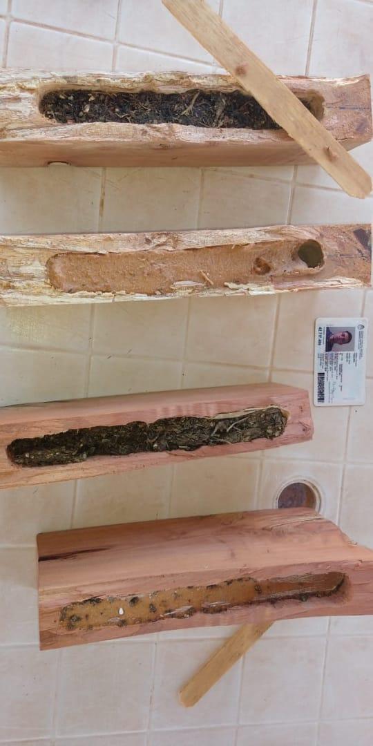 Oberá: detienen a sujeto que trató de ingresar al penal con droga oculta en trozos de madera