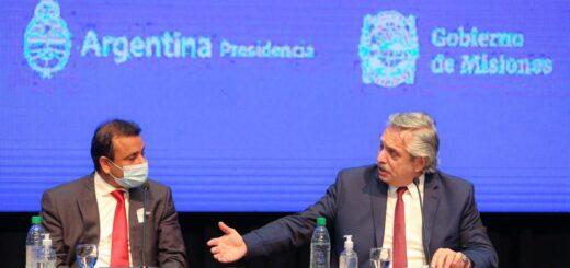 """Oscar Herrera Ahuad, junto a Alberto Fernández: """"Misiones necesita un tratamiento impositivo diferenciado"""""""