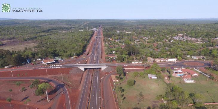 Yacyretá avanza con la obra autovía RN 12 Santa Ana-Loreto