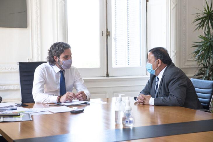 Santiago Cafiero recibió al gobernador de La Rioja por el proyecto de ampliación del parque eólico