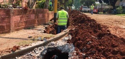 Finalizó la obra de extensión de red de agua en San Miguel en Posadas