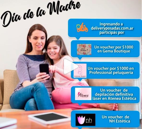 Día de la madre en Delivery Posadas: participá y llevate premios para ella