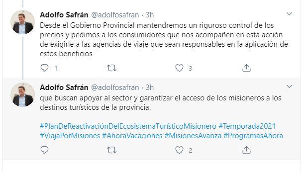 """Safrán brindó detalles sobre el Plan de Reactivación del Ecosistema Turístico y pidió """"compromiso a todos los sectores involucrados"""""""