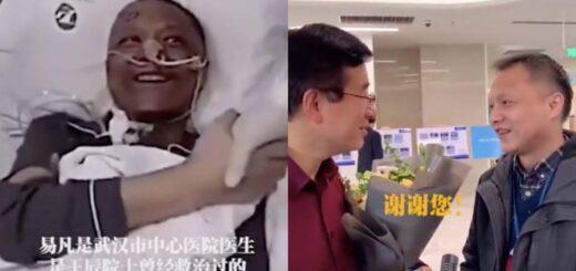 médico chino que había cambiado de color