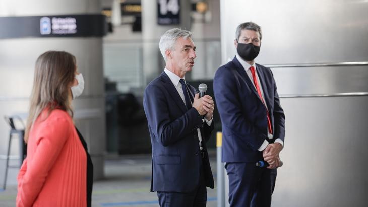"""Meoni en la reanudación de los vuelos regulares de pasajeros y micros y trenes de larga distancia: """"Está todo dispuesto para que podamos retomar la conectividad"""""""