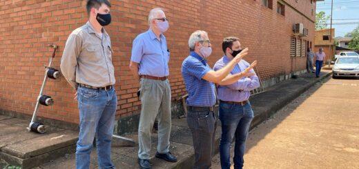 Autoridades de Energía de Misiones junto al Ministro de Energía se reunieron con el intendente de Puerto Iguazú