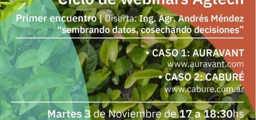 Iniciarán el ciclo de webinars Agtech en el marco del convenio entre la UNaM y Silicon Misiones, para la formación de talentos en la Agricultura Misionera
