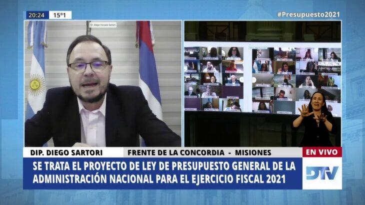 """Diego Sartori: """"Le mostramos al Gobierno Nacional que tiene que darnos las herramientas y las armas para poder ser competitivos con los países limítrofes"""""""