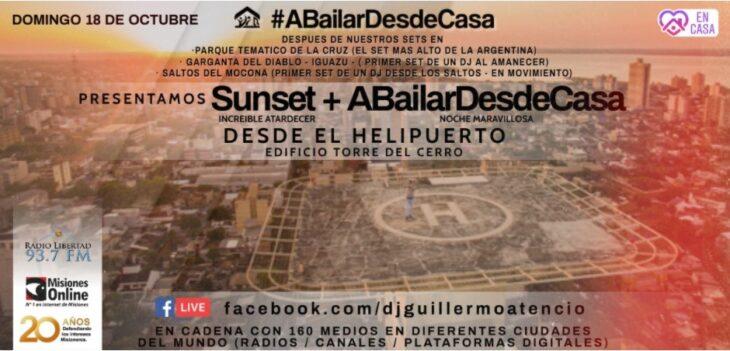 #ABailarDesdeCasa: el Dj Guillermo Atencio pondrá música sobre el edificio más alto de Misiones y uno de los más altos del Nordeste Argentino