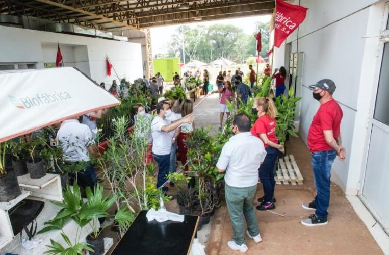 Oscar Herrera Ahuad visitó la Biofábrica, recorrió la feria y supervisó la producción de plantines para el agro