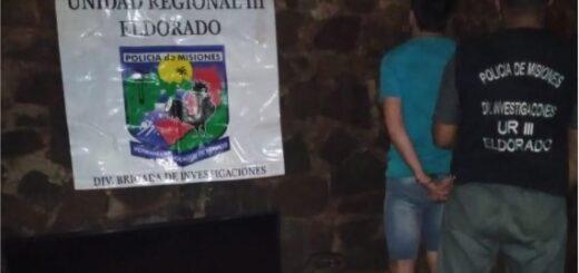 Robo en Eldorado: detuvieron a un hombre por hurtar varios elementos a un vecino del Kilómetro 11