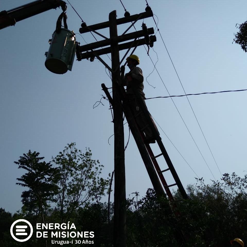 Energía de Misiones desarrolló tareas de mantenimiento en localidades del interior