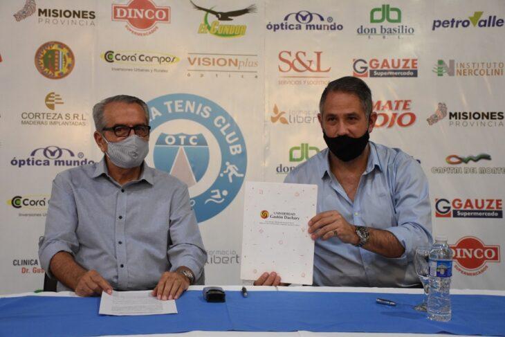 La UGD firmó convenio de colaboración con el Oberá Tenis Club