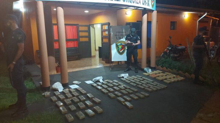 La Policía incautó más de 65 kilogramos de marihuana en un pinar de General Urquiza