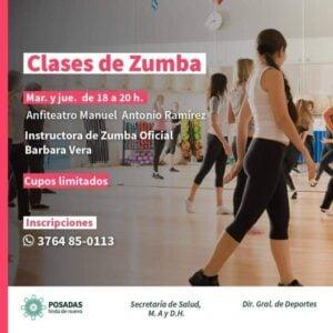 Zumba, Cross y Boxeo femenino son las nuevas alternativas deportivas que ofrece el municipio de Posadas