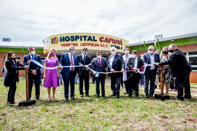 Capioví vivió una inolvidable jornada con la primera visita presidencial, la inauguración de un hospital y una ruta segura que lo vincula con Ruíz de Montoya