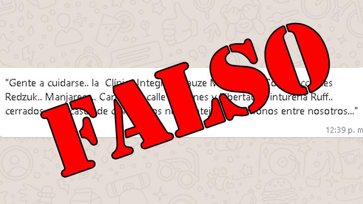 Es falso el mensaje viral que advierte sobre cierre de locales en Oberá por casos de coronavirus