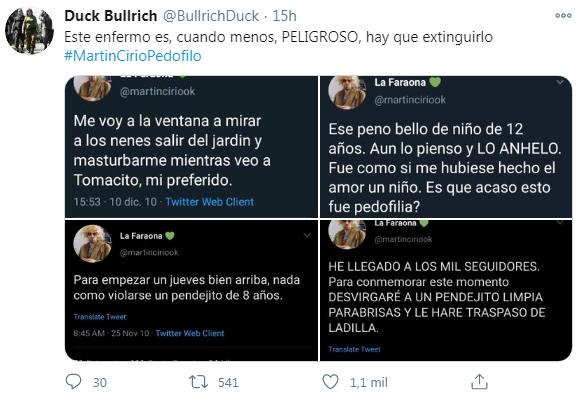 Acusan de pedófilo al youtuber Martín Cirio